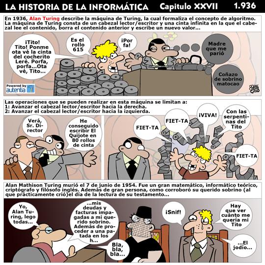 Historia de la inform�tica. Cap�tulo 27. Alan Turing
