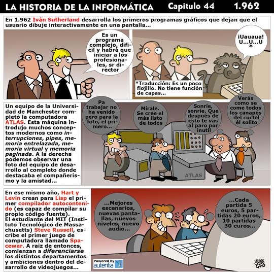 Historia de la inform�tica. Cap�tulo 44. 1962