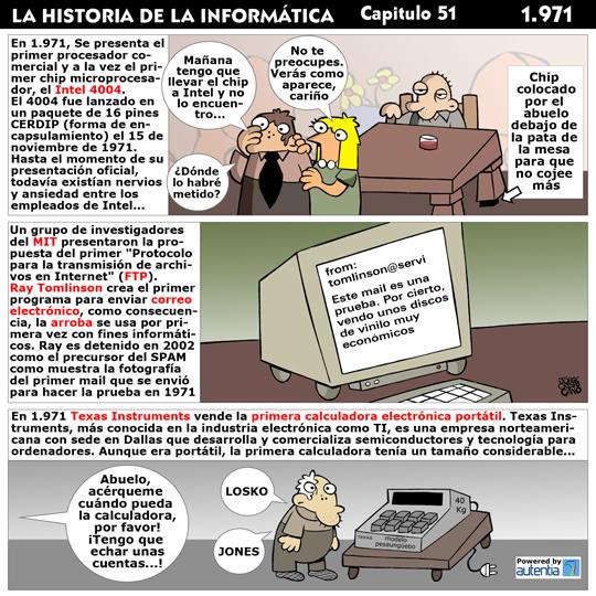 Historia de la inform�tica. Cap�tulo 51. 1971