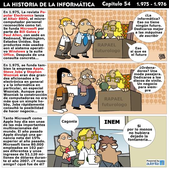 Historia de la inform�tica. Cap�tulo 54. 1975-1976
