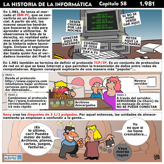 Historia de la inform�tica. Cap�tulo 58. 1981
