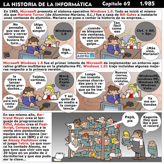 Historia de la inform�tica. Cap�tulo 62. 1985