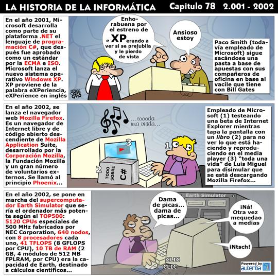 Historia de la Inform�tica. Cap�tulo 78. 2001 - 2002