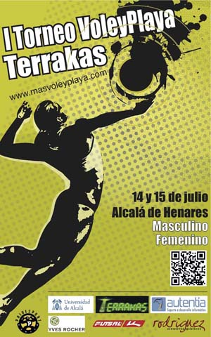 Cartel Torneo Voley Playa