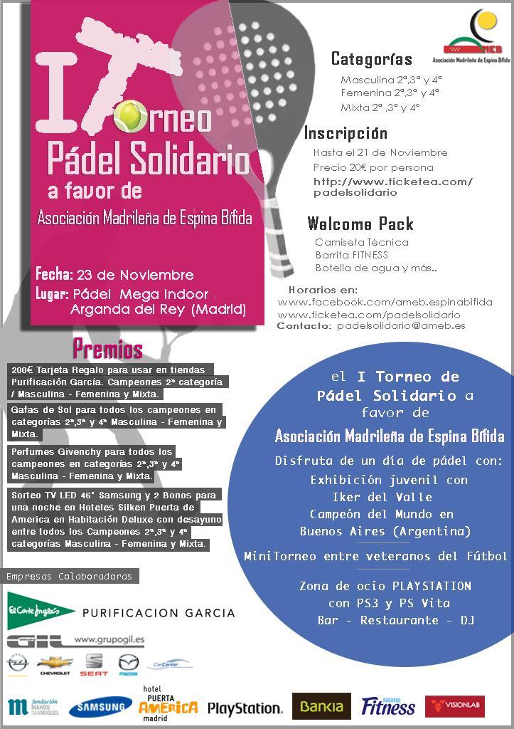 Cartel Torneo Padel Solidario