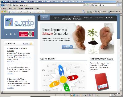 Lanzamiento del nuevo Web de Autentia en julio de 2009