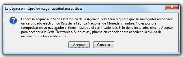 Certificados en firefox fnmt y aeat adictosaltrabajo for Oficina virtual de la agencia tributaria