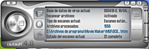 Interfaz del antivirus avast! 4.8 Home Edition