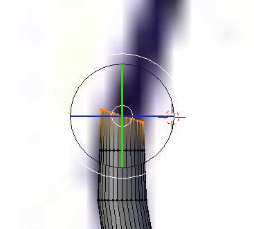 Giro de los vértices de un cilindro