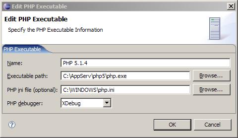 Eclipse PDTcon php.ini y XDebug como debugger