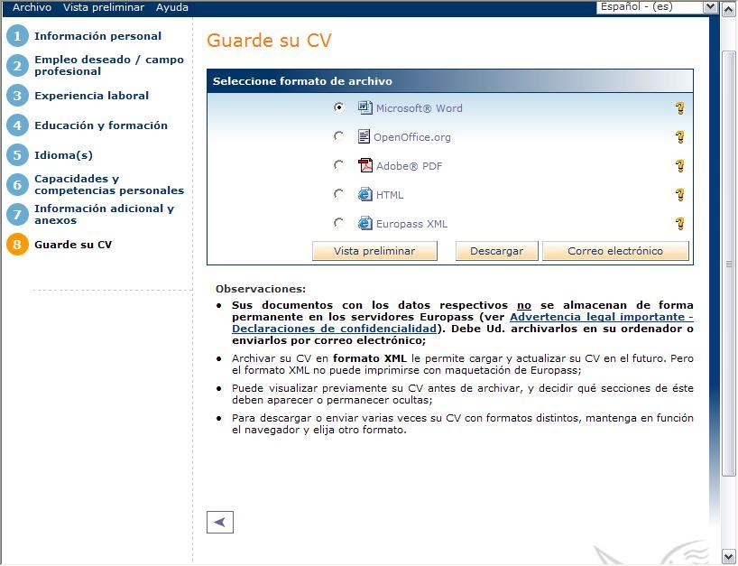 CV en formato europeo | adictosaltrabajo