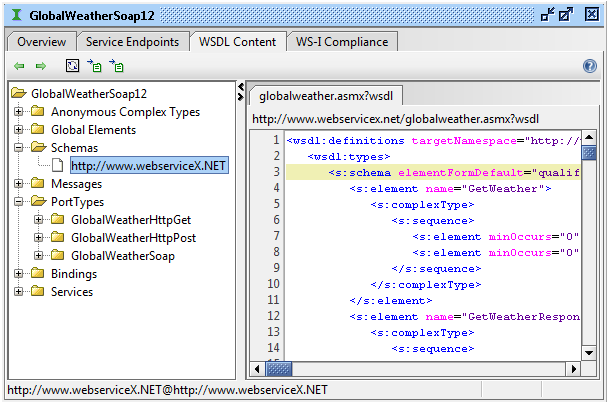 soapUI WSDL content