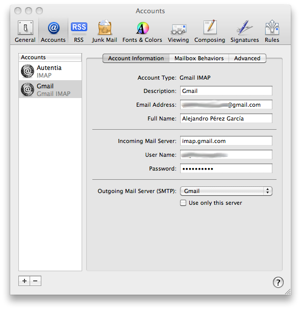 Add Your Gmail Account to Outlook 2011 Mac Using IMAP