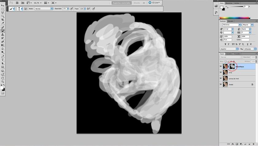 Máscara de capa