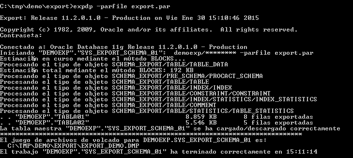 Oracle - Importación de Datos con Data Pump Import [impdp