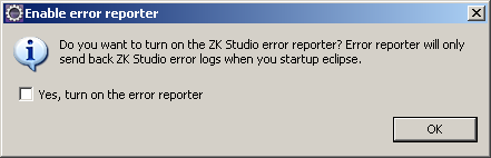 Eclipse enable error reporter
